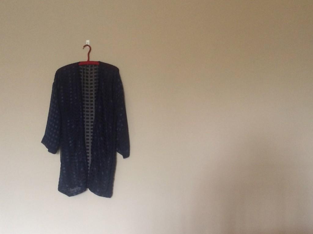 simple blue kimono