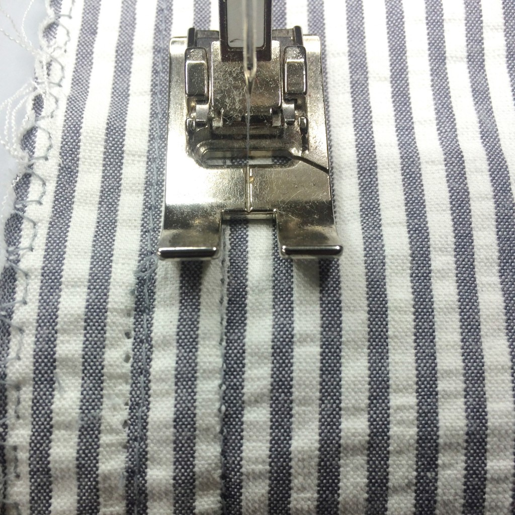 sew between stripes